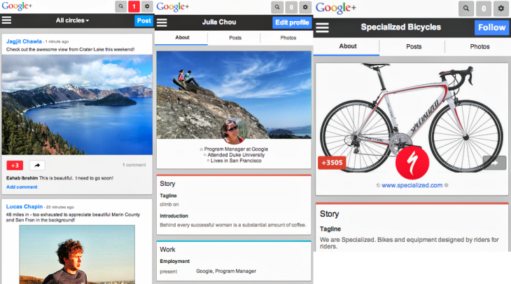 google plus mobile 730x405 Latest Google+ redesign comes to the mobile Web: Cover photos, larger tap targets, and card based posts