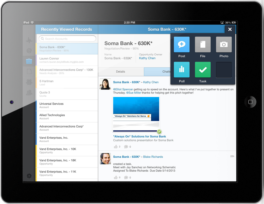 Salesforce Chatter Gets File Sharing Ability For Its Mobile