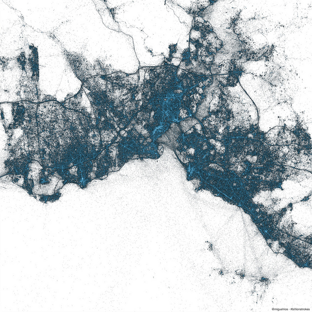 istanbul Twitter creates stunning images of New York City, Tokyo and Istanbul using only geotagged Tweets