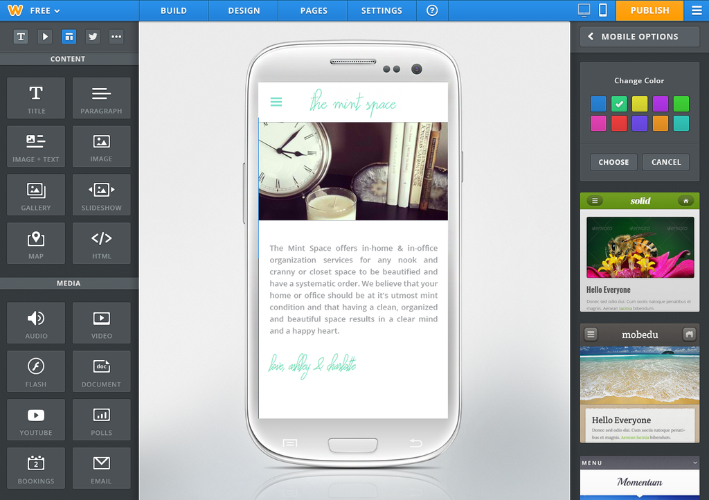 Weebly Launches Its Android App Mobile And Html5 Site Creator