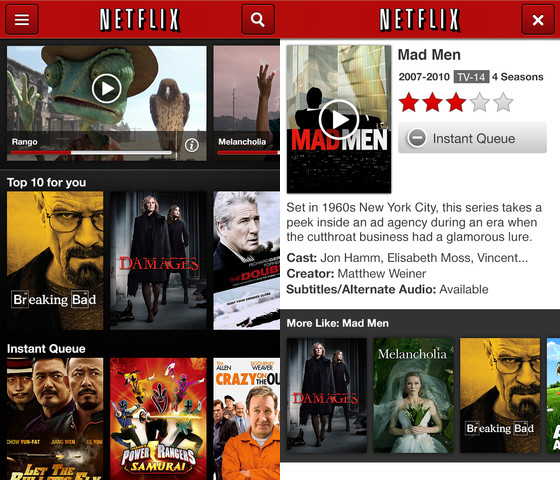 netflix ios Netflix for iPad now auto plays next TV episode, offers after movie recommendations, and more