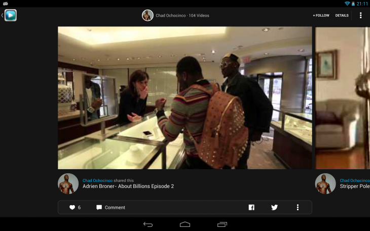 profile feed 730x456 Tellys social video discovery app is now optimized for Android tablets