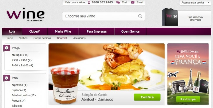 wine.com .br gourmet 730x371  Why Brazils e.Bricks Digital is Launching a $100 million Venture Capital Fund