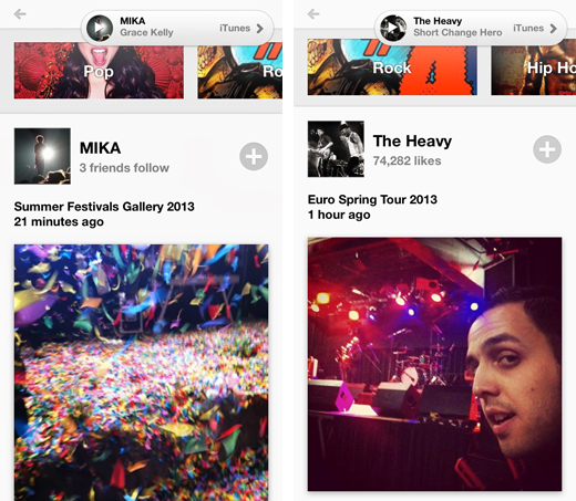 yapmusic2 Yap Music offers the simplicity of Instagram as an iPhone music discovery app