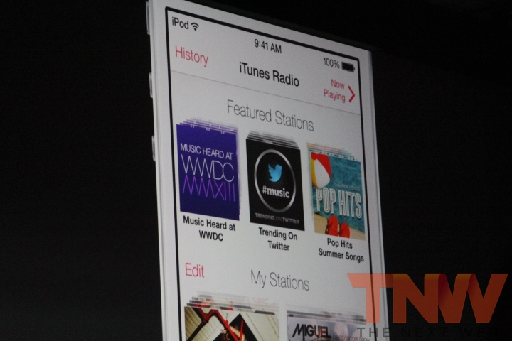 0178wtmk Apple introduces iTunes Radio on iOS 7, Apple TV and desktop. Free for all, ad free for iTunes Match users