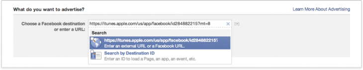 12 730x141 Facebook simplifies mobile app install ads so marketers only need App Store URL to create placements