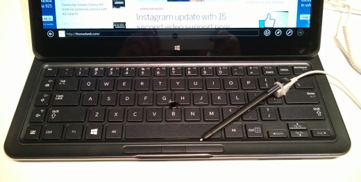 ATIVQ Keyboard 520x262 Hands on with Samsungs hybrid Windows 8 and Android Galaxy ATIV Q