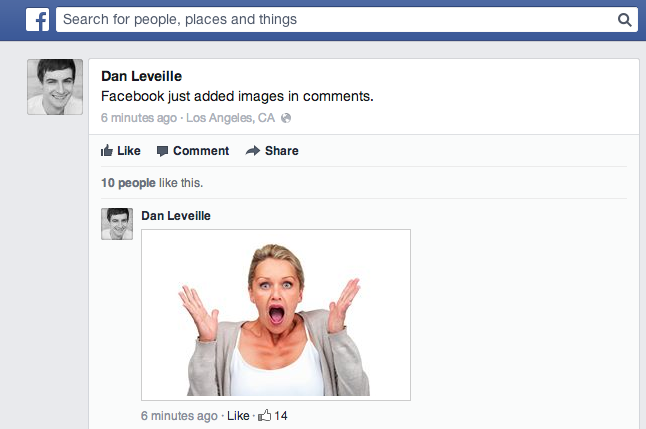 Screen Shot 2013 06 19 at 11.08.50 AM Facebook rolling out ability to insert images natively into comments, starting with Web