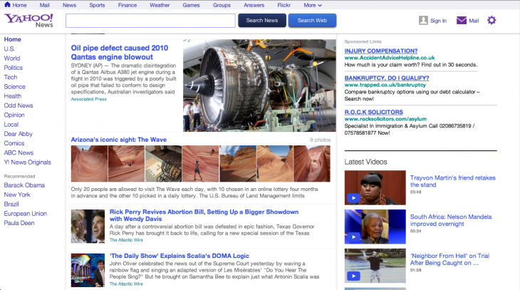 Screen Shot 2013 06 27 at 15.45.51 730x407 Yahoo News gets a major redesign, puts a greater emphasis on content and a customizable news stream