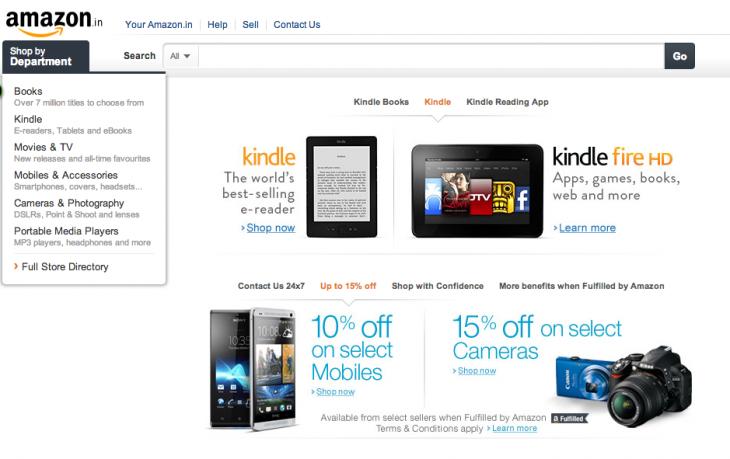 Amazon India screenshot