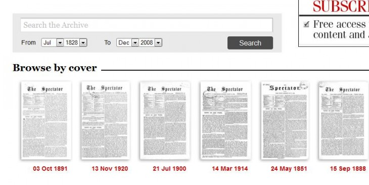 Spectator1 730x366 UK magazine The Spectator finally launches its 180 year online archive
