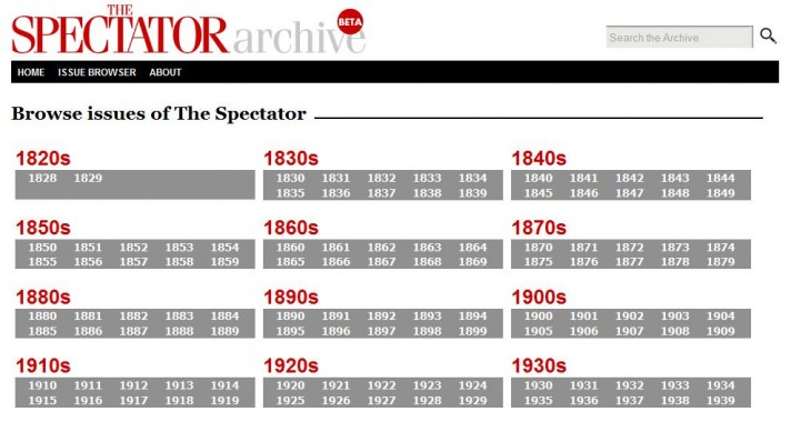 Spectator4 730x380 UK magazine The Spectator finally launches its 180 year online archive