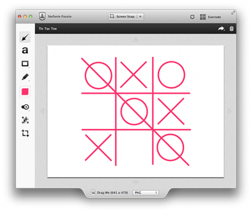 Tic Tac Toe 520x433 Evernote updates Skitch for Mac with an adjustable canvas, smaller shapes and neater annotations