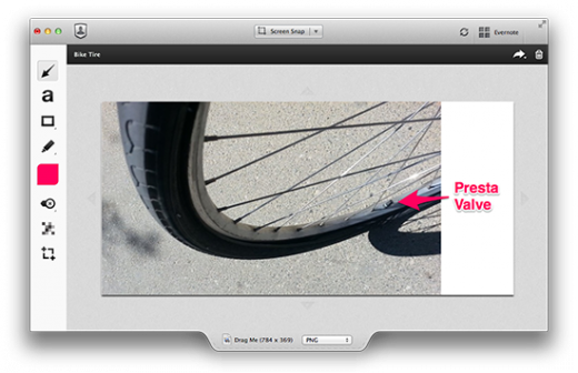 bike tire 520x336 Evernote updates Skitch for Mac with an adjustable canvas, smaller shapes and neater annotations