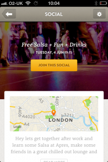 e 220x330 CitySocialising goes mobile and becomes Citysocializer, helping you tap social scenes wherever you roam