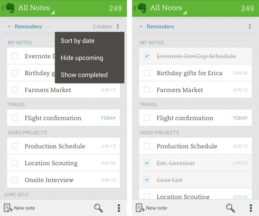 Evernote Adds Custom Reminders To Its Android App
