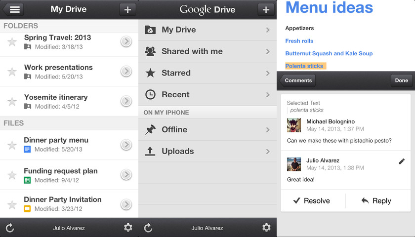 how to download photos onto iphone from google drive