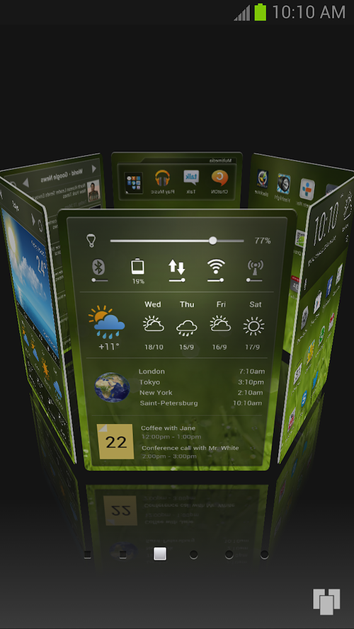 Yandex Debuts Yandex Shell, A 3D UI For Android Devices