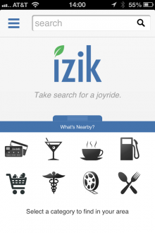 izik 1 220x330 Blekko releases iPhone and Android smartphone version of Izik search app