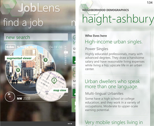joblens1 Nokia launches JobLens app in North America, helps you find nearby vacancies with Augmented Reality