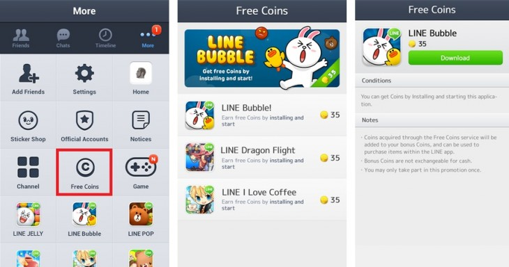 line free coin1 730x384 Line targets new revenue with initiative to promote third party apps to its 150m user base