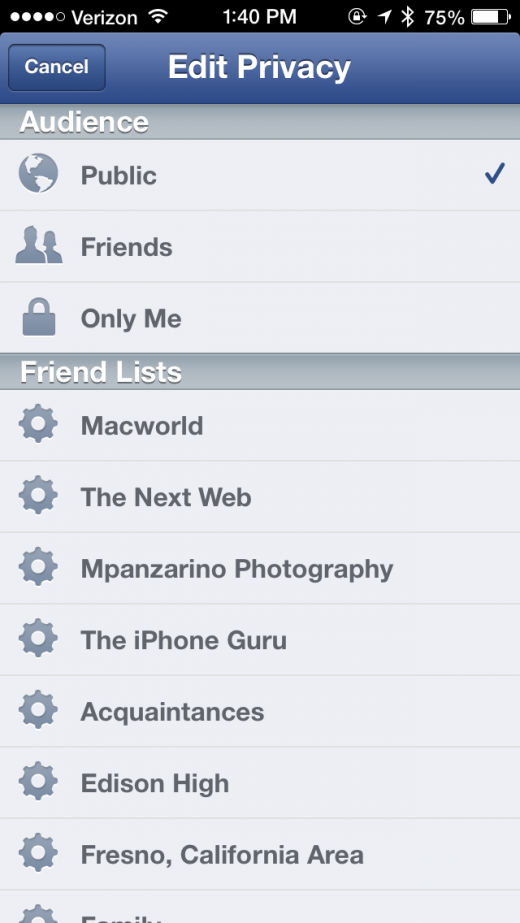 photo 5 520x923 Facebook for iOS update brings status action icons and easier privacy control