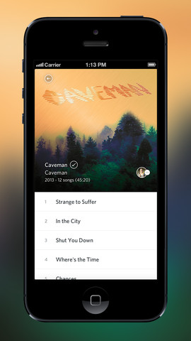 rdio2 Rdio responds to new competitors by adding song based playlists and autoplay to iOS app