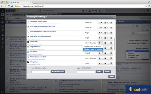 syndicator screenshot2 520x324 HootSuite Syndicator: Yet another new RSS app, but with a special twist for social media marketers