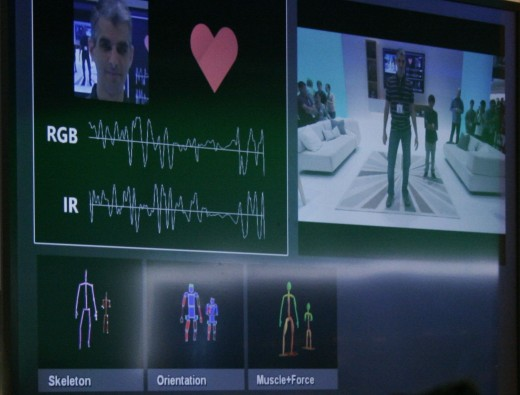 xboxone kinect 520x395 Microsofts E3 Xbox One tech demo: 300,000 asteroids, spinal thumbsticks and NFL multi tasking