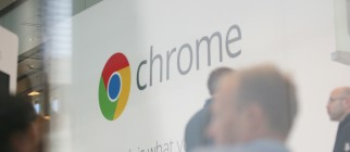Google Chrome's logo is seen at Google's