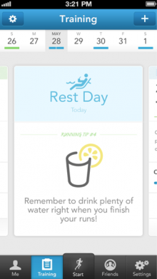 3.6RestDay 220x391 RunKeeper relaunches its training plans as it looks to be your own personal pocket fitness coach