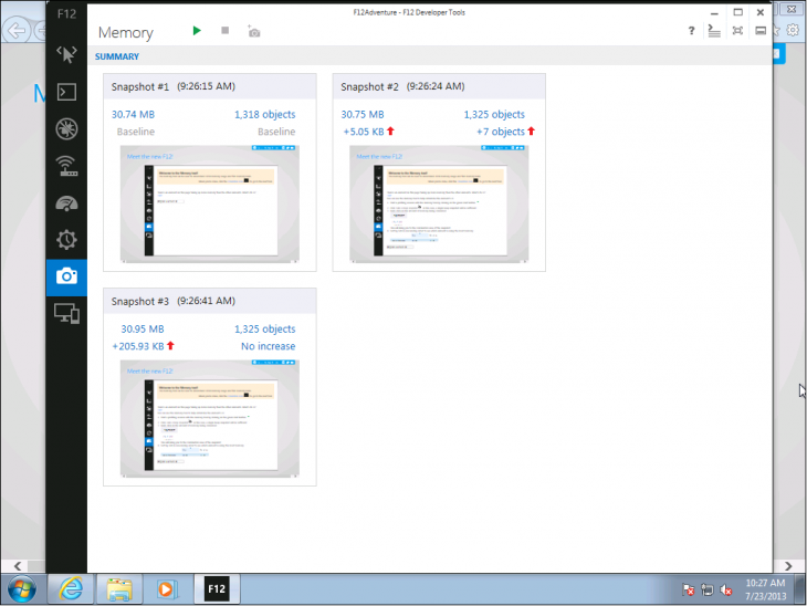 IE11 Dev Preview F12 Tools