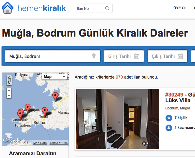 Muğla Bodrum Günlük Kiralık Daire Hemen Kiralık Meanwhile, in Turkey: Flash sales site Evim.net lands $5m, Airbnb clone HemenKiralik $2.5m