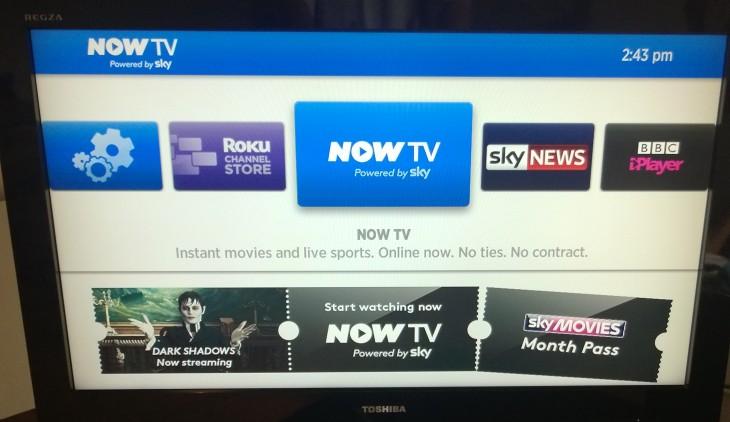 Now TV Menu