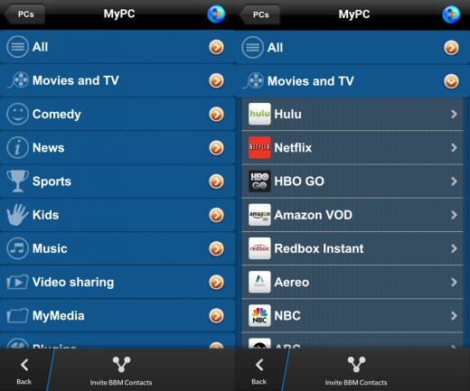 PlayOn BB10 520x433 PlayOn brings Netflix, Hulu, HBO GO and 60 + channels to BlackBerry 10 users in the US and Canada