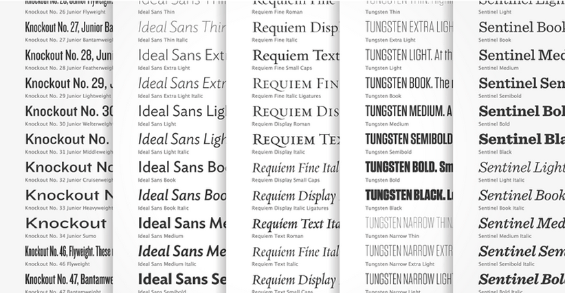 Hoefler & Frere-Jones has launched its web typography service, Cloud.typography