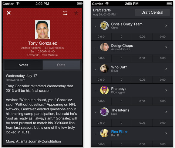 Screen Shot 2013 07 25 at 10.49.19 AM Yahoo bundles up its fantasy games into a new Fantasy Sports app for Android and iOS