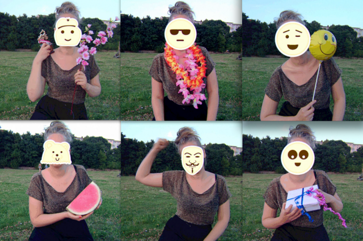 a11 730x484 Stick around: Loopcam brings giant face stickers to its animated GIF app