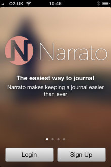 a8 220x330 Narrato: A great lifelogging journal for iPhone that draws on data from Twitter, Instagram and Foursquare