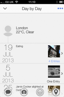c11 220x330 Narrato: A great lifelogging journal for iPhone that draws on data from Twitter, Instagram and Foursquare