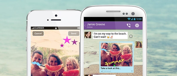 Messaging and VoIP app Viber gets playful with its new 'doodle' feature for Android