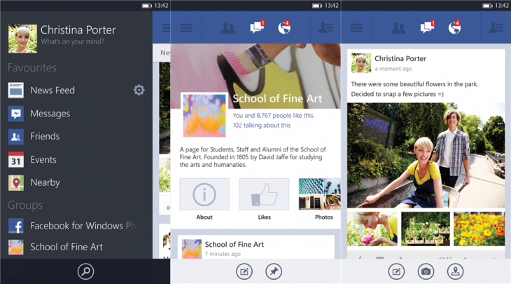 facebook wp8 730x405 Facebook for Windows Phone completely redesigned with high res pictures, post sharing, Timeline view, and more