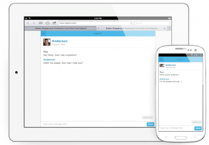 mobile optimized chat window