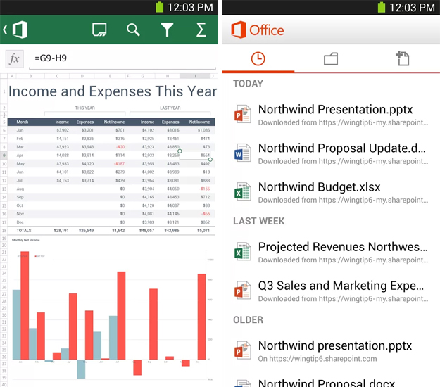 office1 Microsoft brings Office Mobile to Android smartphones, still requires an Office 365 subscription