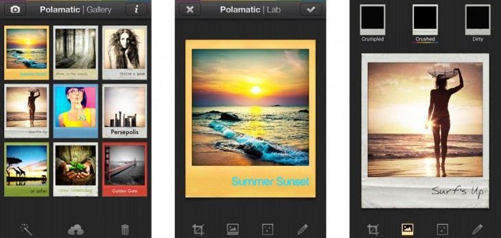 polariscombo 730x347 Polaroids Polamatic photo app lands on Android, sports more filters/frames than iOS version