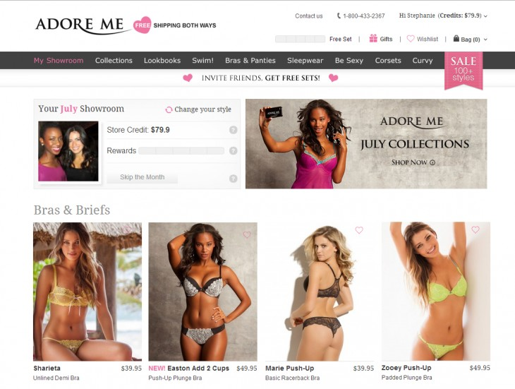 showroom1 730x551 Lingerie sales site Adore Me raises $8.5m as it aims to disrupt Victorias Secret market share