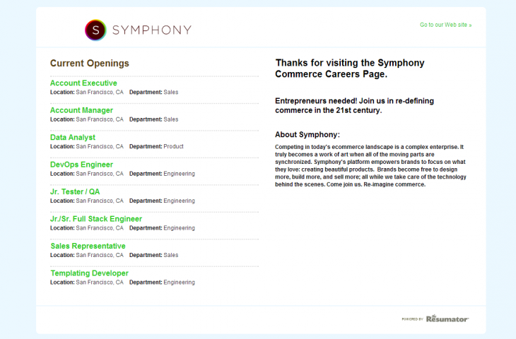 symphony2 730x480 Social shopping startup Sneakpeeq raises $4.7m to pivot into a platform for Web retailers, rebrand as Symphony Commerce
