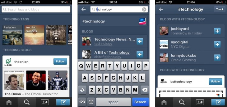 tumblr ios 730x346 Tumblr introduces trending/recommended content to iOS and Android apps to improve search and discovery