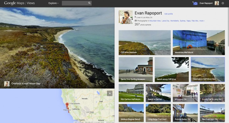 views evan 730x394 Google launches Views, a community site for contributing Androids photo spheres to Google Maps