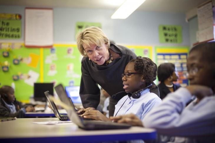 Mayor Bloomberg Visits Public School With New Schools Chancellor Cathleen Black